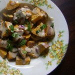 Roasted Sweet Potato Salad with Tahini Chipotle Sauce