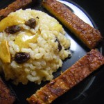 October 7, 2010: Ginger Brown Rice and Roasted Pear and Baked Tempeh