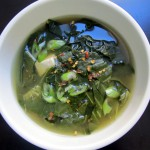 Collard Green Miso Soup