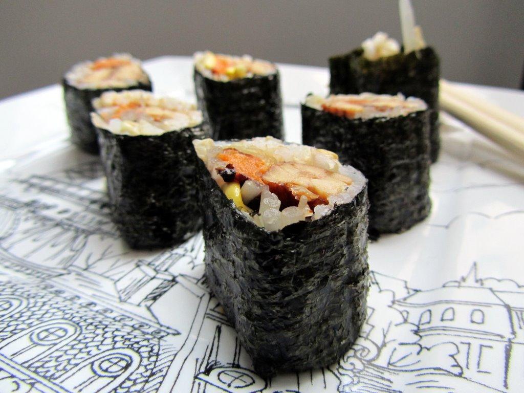 vegan sushi video sweet potato soul by jenn claiborne. Black Bedroom Furniture Sets. Home Design Ideas
