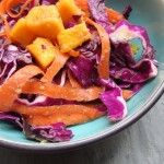 Miso and Mango Red Cabbage Salad