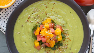 Avocado Fennel Soup with Sweet Mango