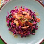 Red Cabbage Salad with Sweet Miso Dressing