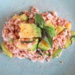 Avocado Squash & Basil Farro Risotto