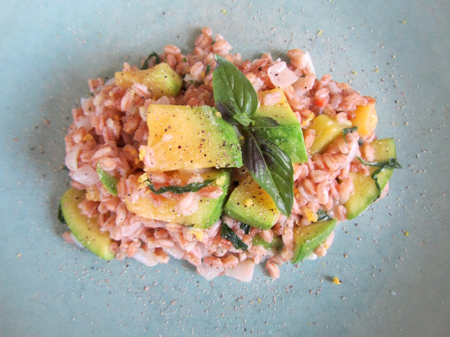 farro risotto recipe yummly sweet potato and gorgonzola farro risotto ...