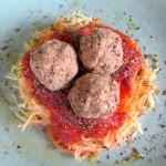 Vegan Lentil Meatballs & Spaghetti Squash