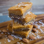 No-Bake Sweet Potato Bars with Raw Gingerbread Crust