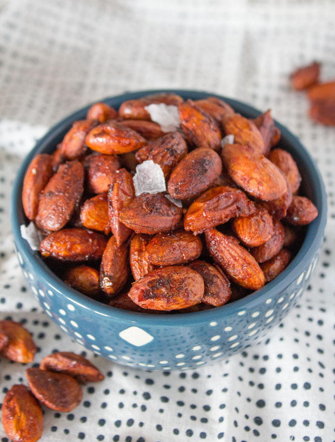 Harissa Roasted Almonds with Mina Harissa