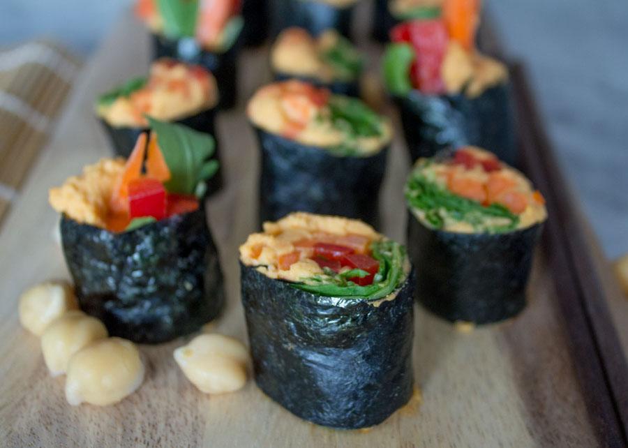 Harissa Hummus Nori Sushi