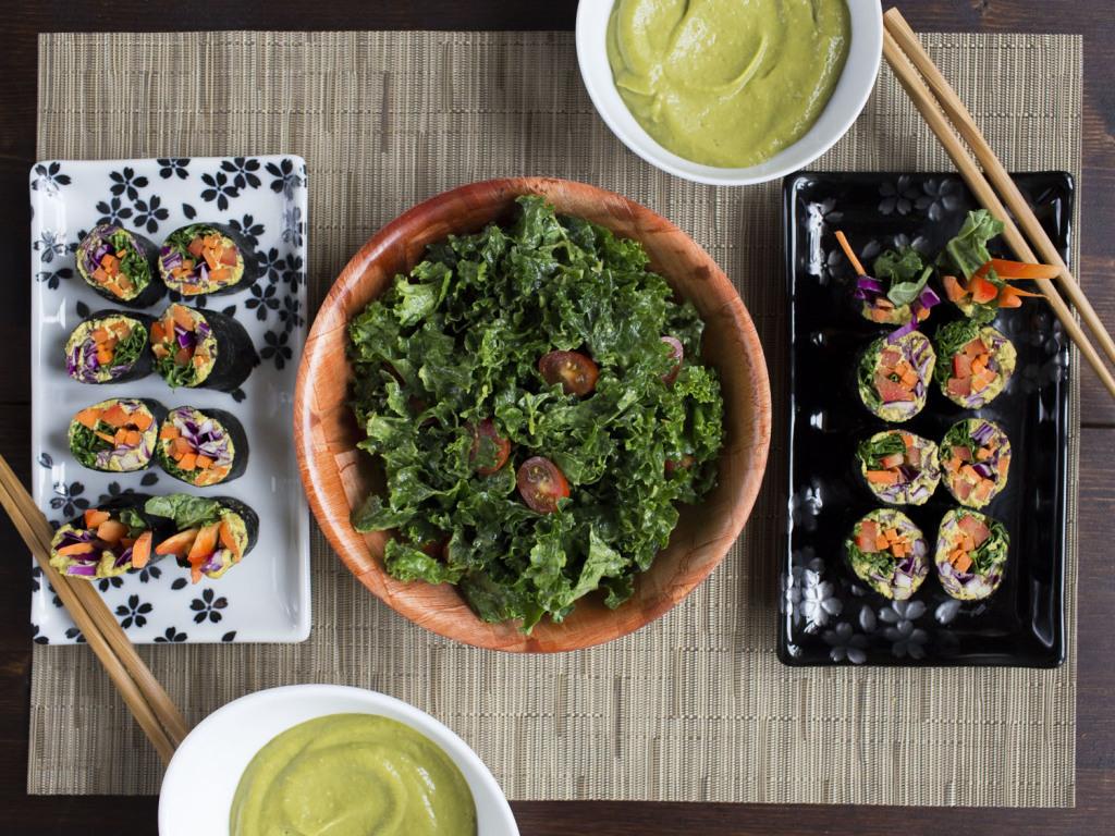 Raw Vegan Jenné Claiborne Kitchen Surfing Menu