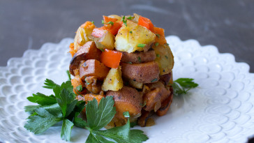 vegan sweet potato hash