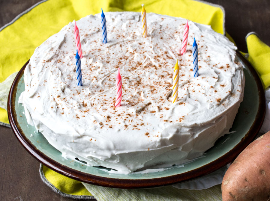 Sweet Potato Birthday Cake
