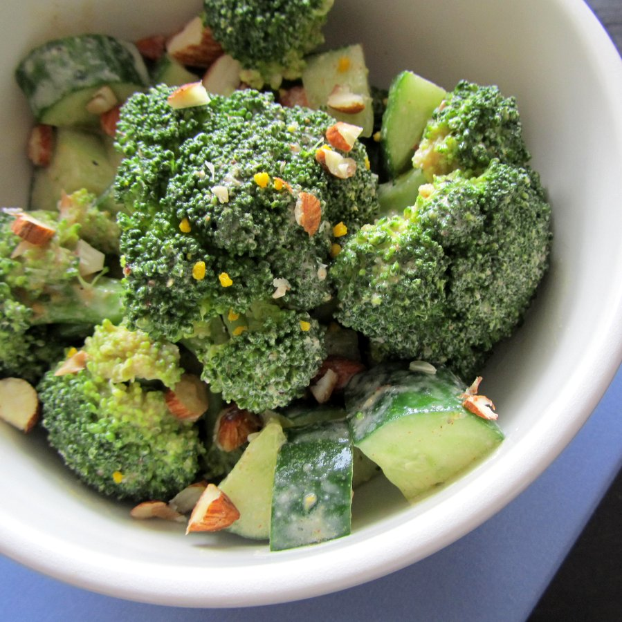 Miso Tahini Broccoli Salad