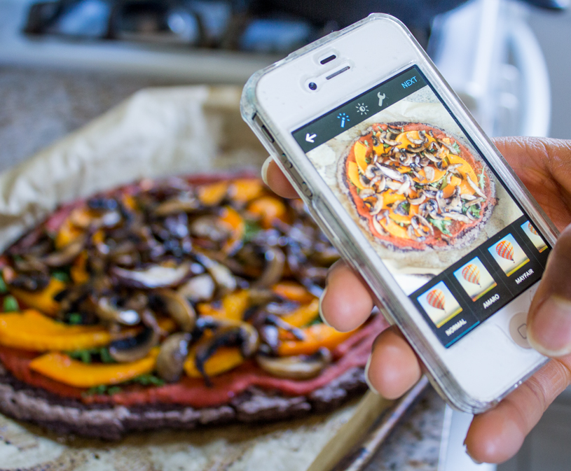 Black Bean Crust Pizza on Instagram