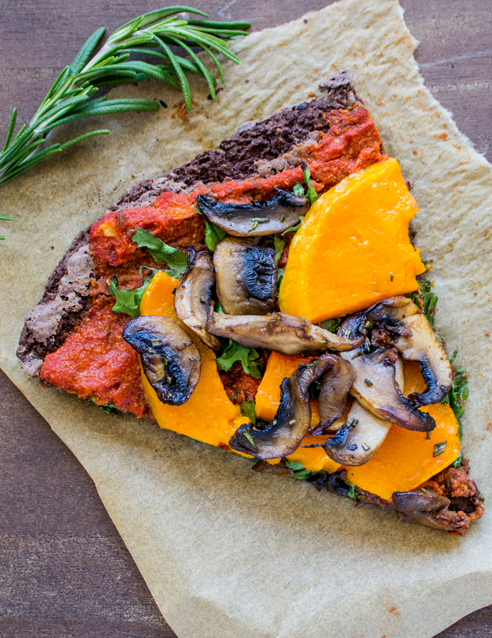 Black Bean Crust Pizza