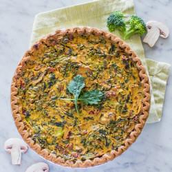Vegan Quiche for Easter Brunch