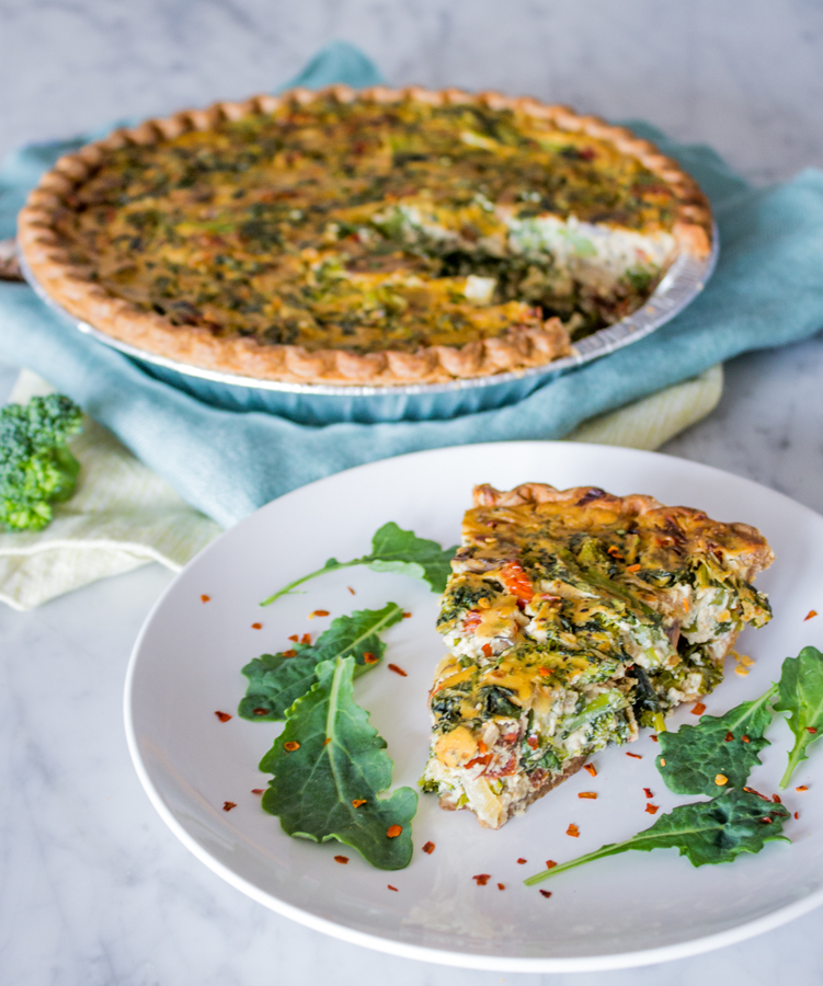 Vegan Broccoli & Kale Tofu Quiche
