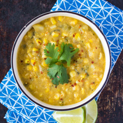 Vegan Creamy Corn Chowder {VIDEO}
