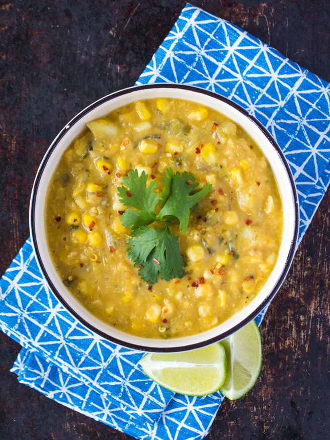 Vegan Creamy Corn Chowder {VIDEO} - Sweet Potato Soul by ...