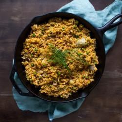 Vegan Fennel Paella