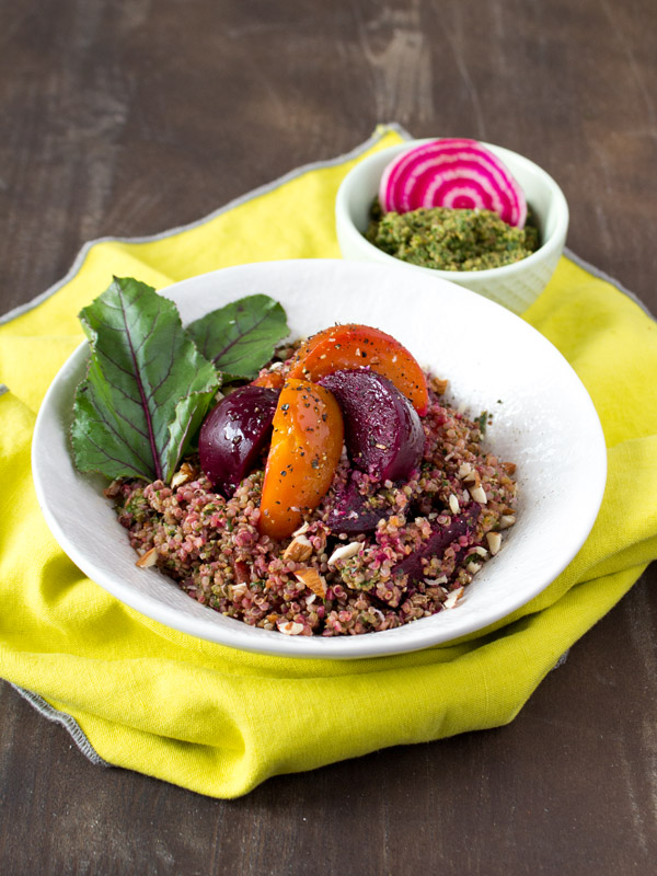 Beet Green Pesto Pilaf {VIDEO}