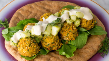 Sweet Potato Falafel Sandwich {VIDEO}