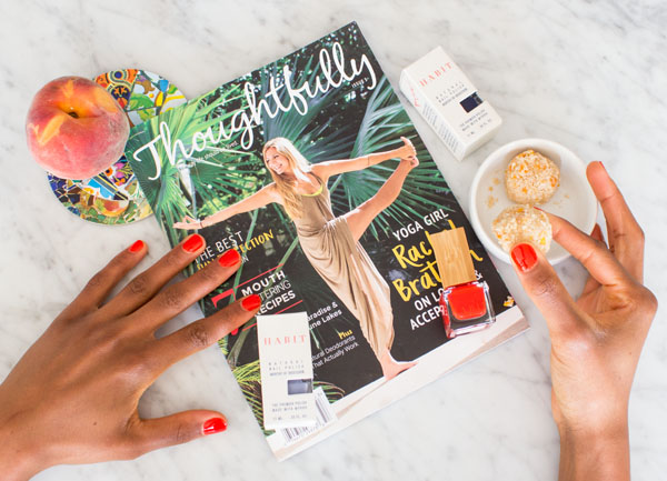 Raw Mango Macaroons & Habit Cosmetics Eco Vegan Nail Polish & Thoughtfully Magazine