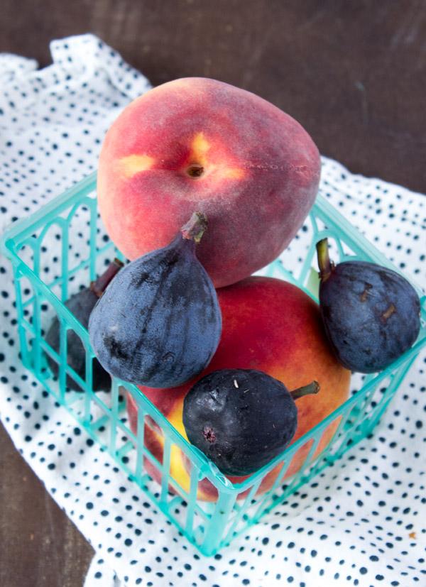 Peach Fig Ice Cream Vegan -- www.sweetpotatosoul.com