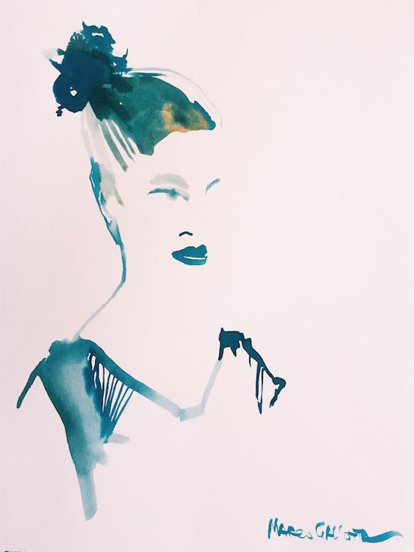 Jenné in Watercolor www.sweetpotatosoul.com