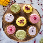 Vegan Vanilla Cupcakes + Icing with DIY Food Coloring