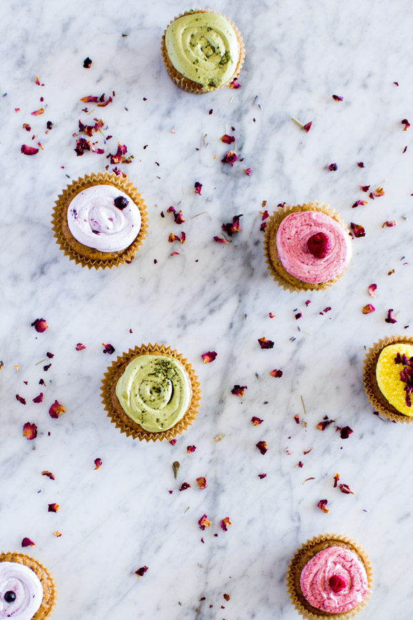 Colorful Vegan Cupcakes | www.sweetpotatosoul.com