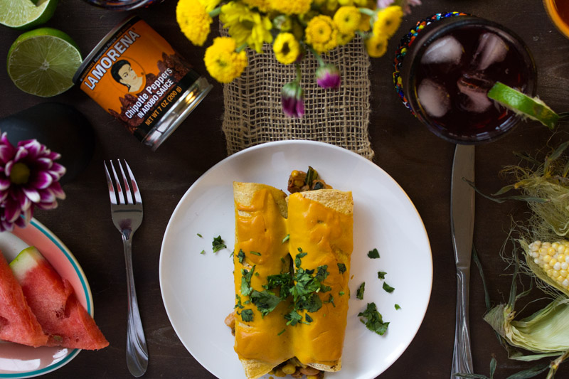 Chipotle Sweet Potato Enchiladas | www.sweetpotatosoul.com