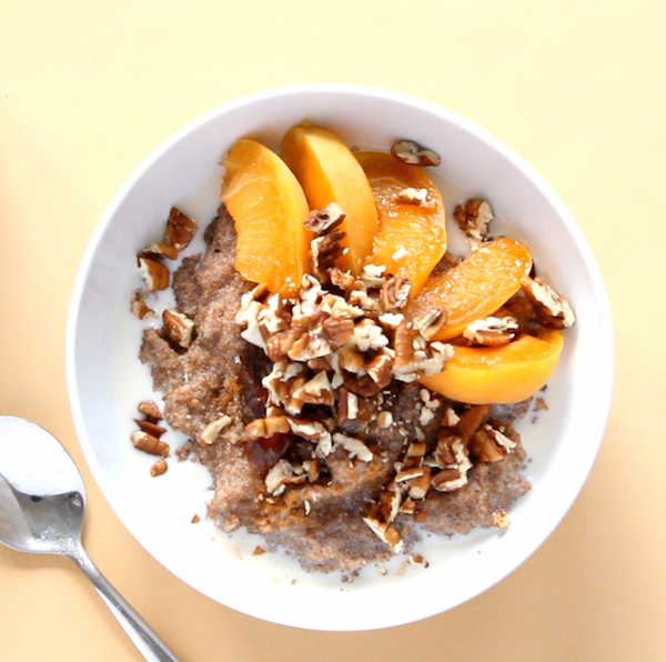 Teff Porridge with Pecans and Apricots | www.sweetpotatosoul.com