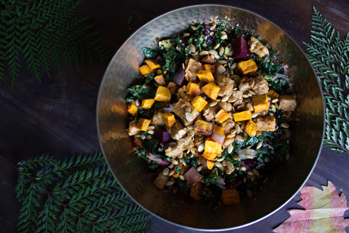 maple mustard tempeh buddha bowl salad | www.sweetpotatosoul.com