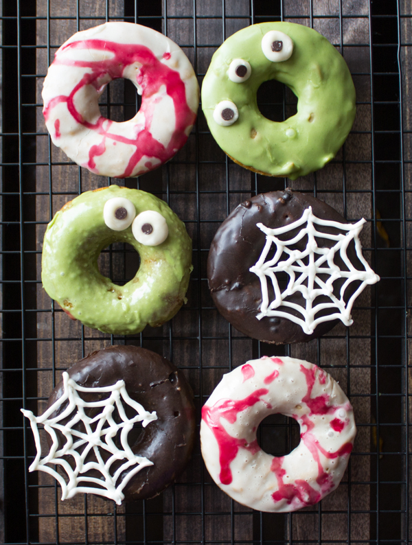 Halloween Vegan Sweet Potato Donuts | www.sweetpotatosoul.com