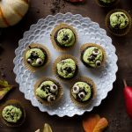 Halloween Raw Chocolate Matcha Cupcakes