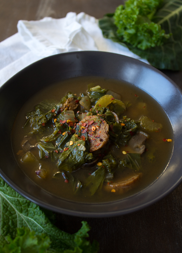 Vegan winter soup Green Gumbo @sweetpotatosoul