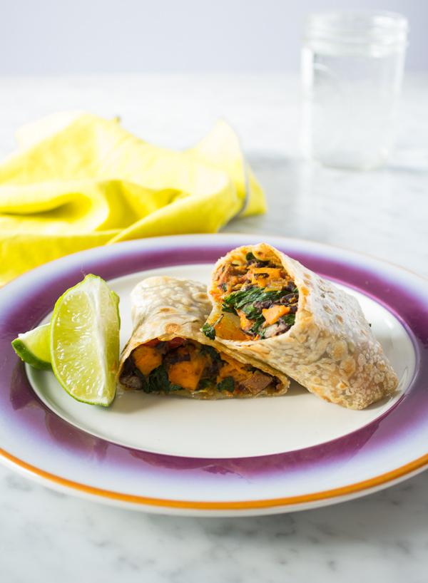 Gluten-free Vegan Sweet Potato Breakfast Burrito | www.sweetpotatosoul.com