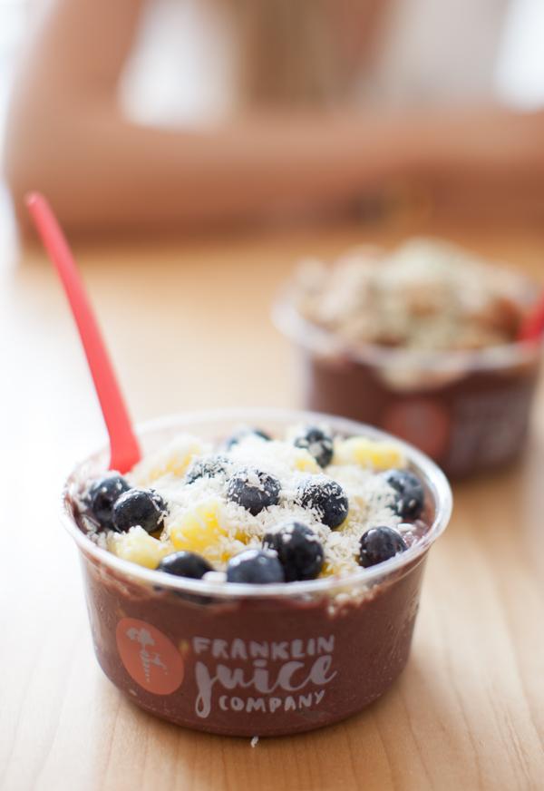 Franklin Juice Acai Bowls | www.sweetpotatosoul.com