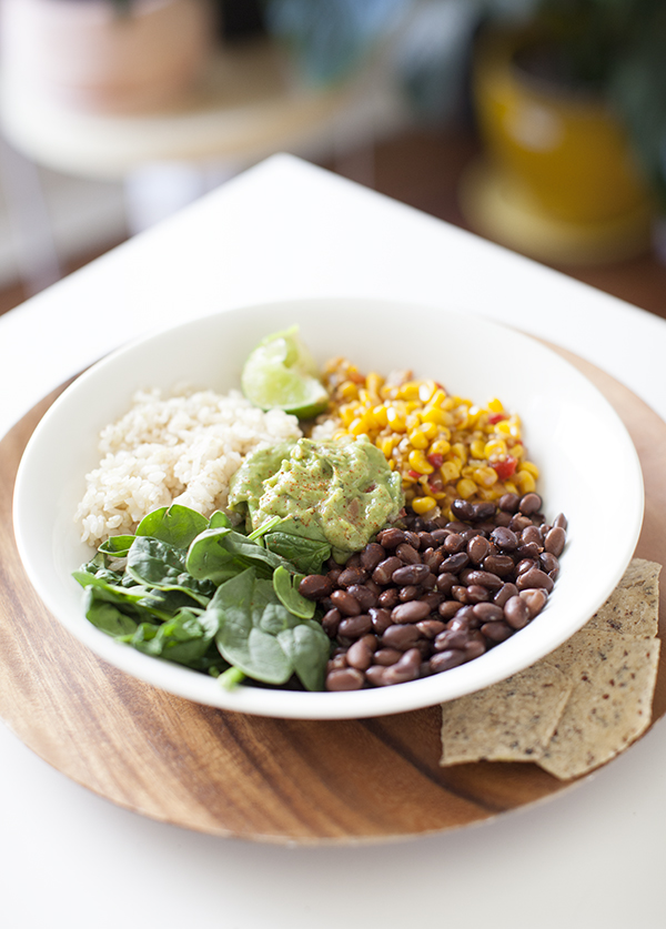 Burrito Bowl 5 Minute Easy Vegan Meals | sweetpotatosoul.com