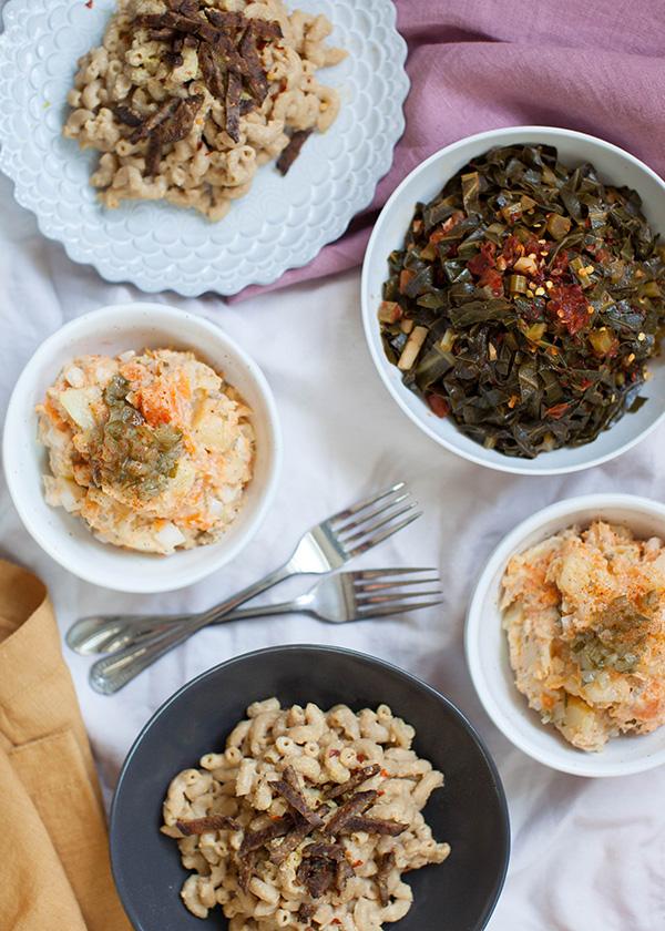 Sweet potato salad vegan soul food cookbook video sweet potato salad vegan soul food spread sweetpotatosoul forumfinder Images