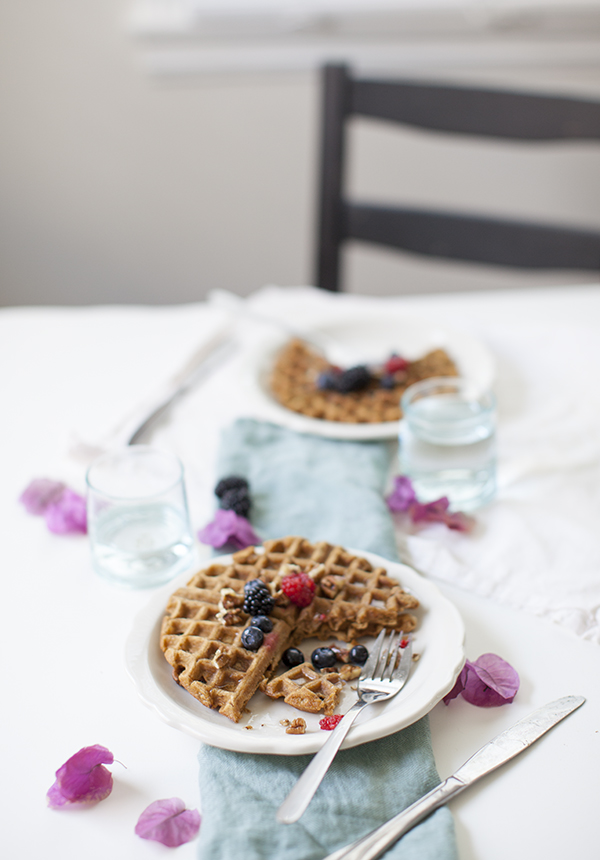 Vegan Sweet Potato Waffles |sweetpotatosoul.com