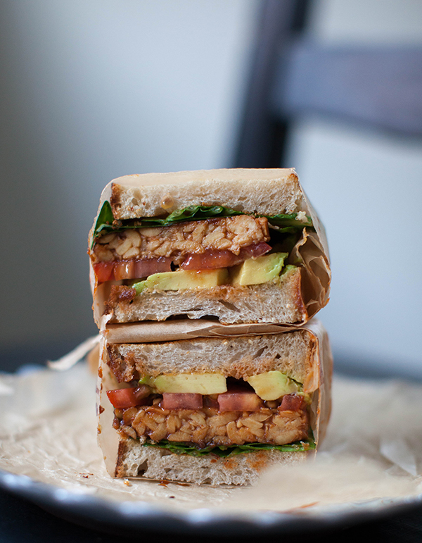Vegan BBQ Tempeh Sandwich | sweetpotatosoul.com