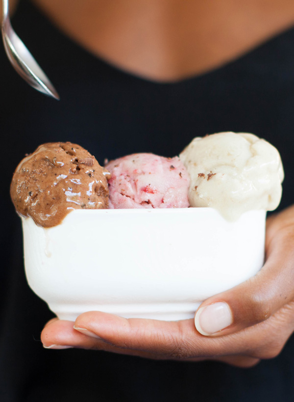 Banana Ice Cream 3 Flavors | sweetpotatosoul.com