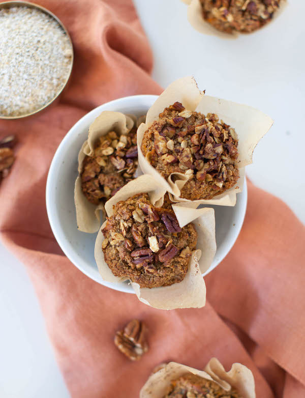 Oat Bran Sweet Potato Muffins | sweetpotatosoul.com