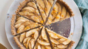 Vegan Apple Tart with Walnut Crust