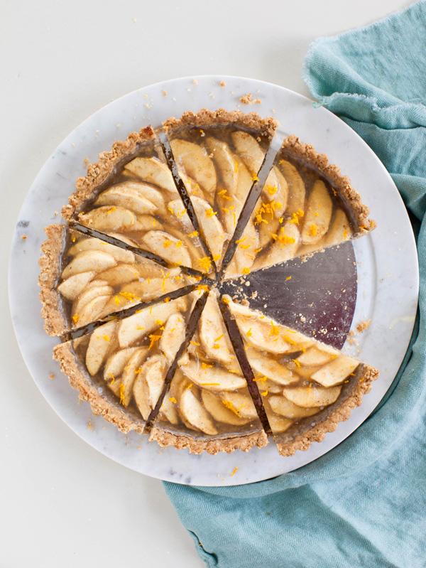 Vegan Apple Tart with Walnut Crust   @sweetpotatosoul