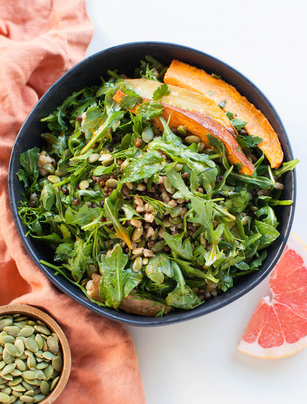High Protein Vegan Sweet Potato Arugula Salad | @sweetpotatosoul