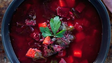 Hearty Beet & Sweet Potato Soup