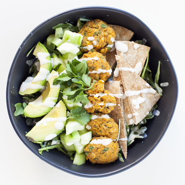 Vegan Meal Plan Buddha Bowl Sweet Potato Falafel Bowl | @sweetpotatosoul